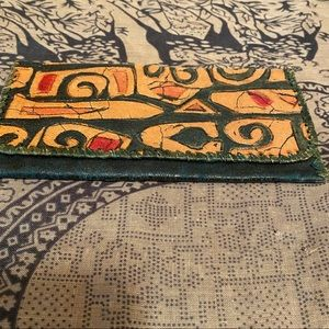 Vintage Leather Checkbook Cover